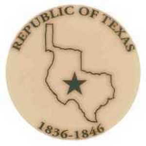Republic of Texas Imprinted Leather Coasters